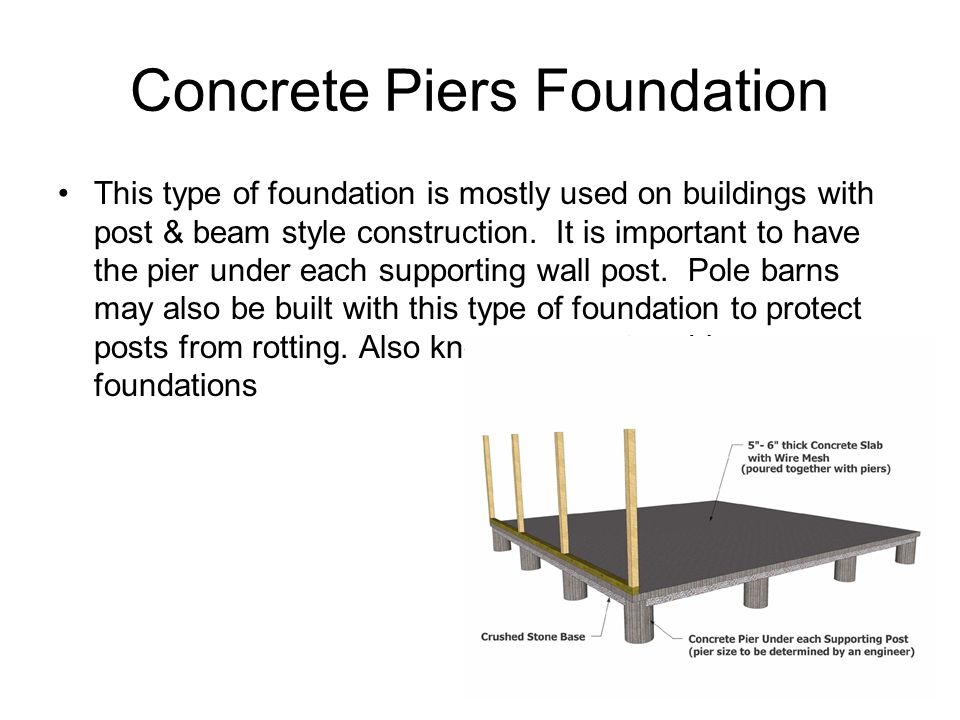 Types of Concrete Foundations  Concrete Piers Foundation This type