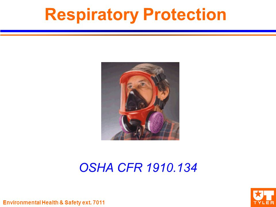 Environmental Health & Safety ext Respiratory Protection OSHA CFR