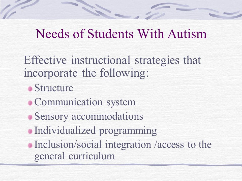 Research Based Instructional Strategies For Students With Autism