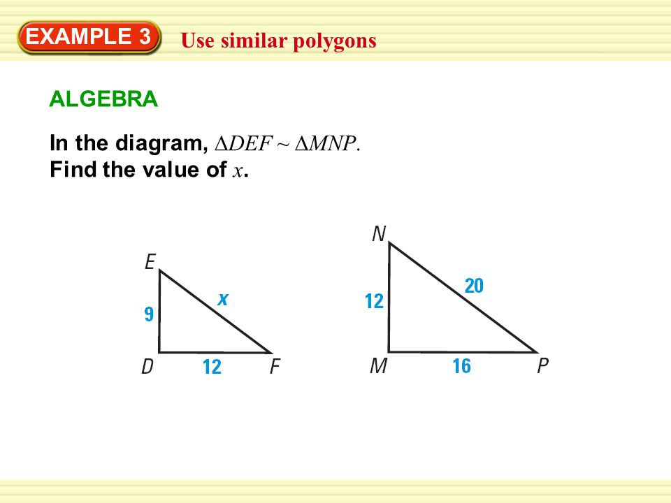 5 Exle 3 Use Similar Polygons In The Diagram Def Mnp Find Value Of X Algebra: Worksheet Similar Polygons And Triangles At Alzheimers-prions.com
