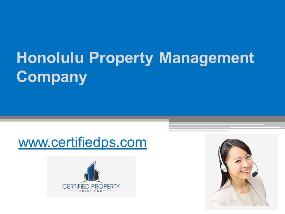 Honolulu Property Management Company