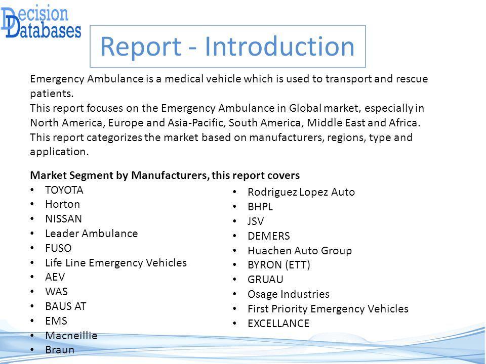 Global Emergency Ambulance Market by Manufacturers