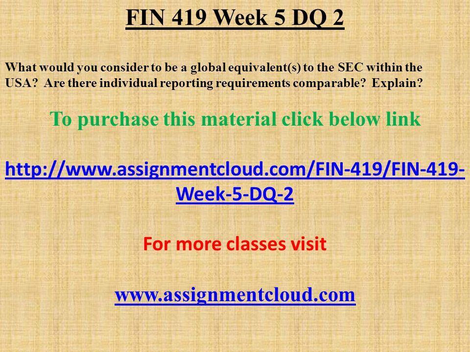 fin 419 week 5
