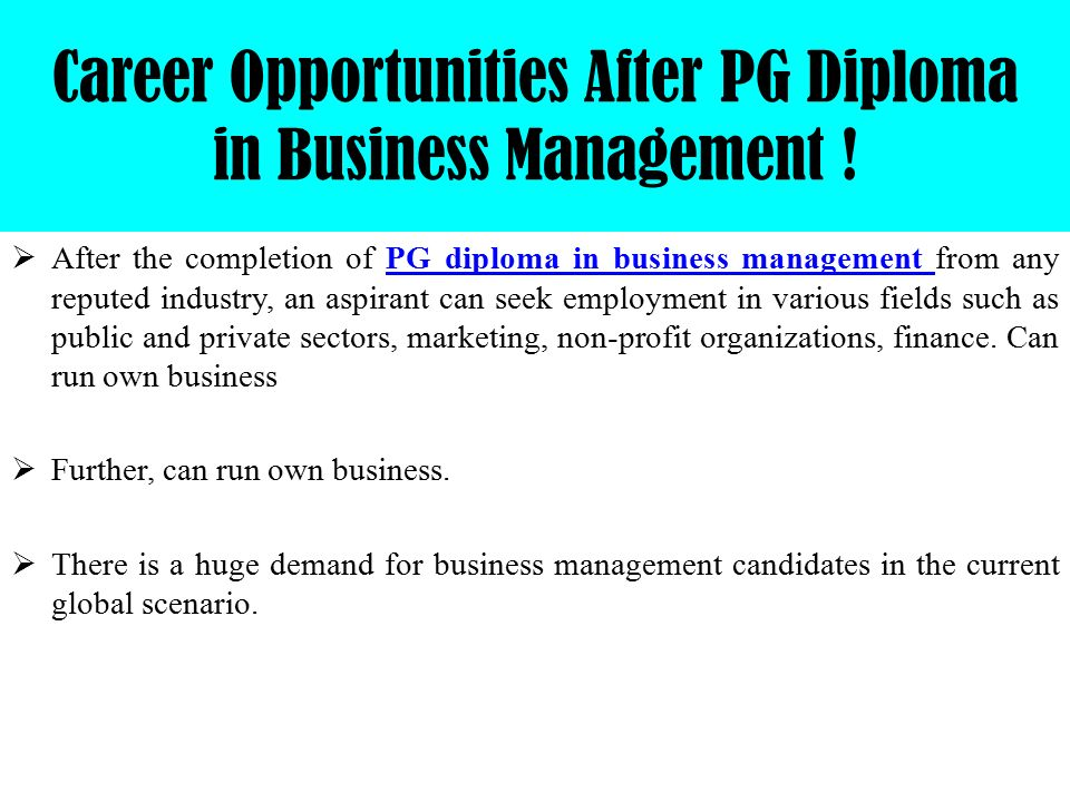 Post Graduate Diploma In Business Management From Narsee Monjee