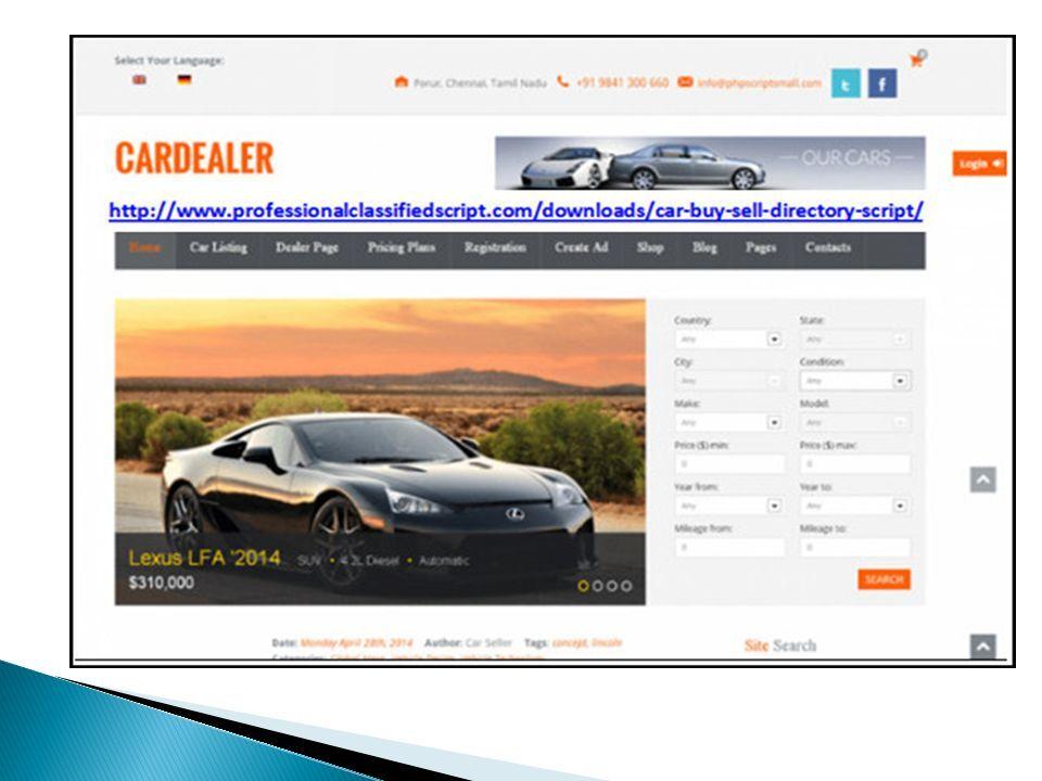Car auction software | online car rental software | car dealer ...