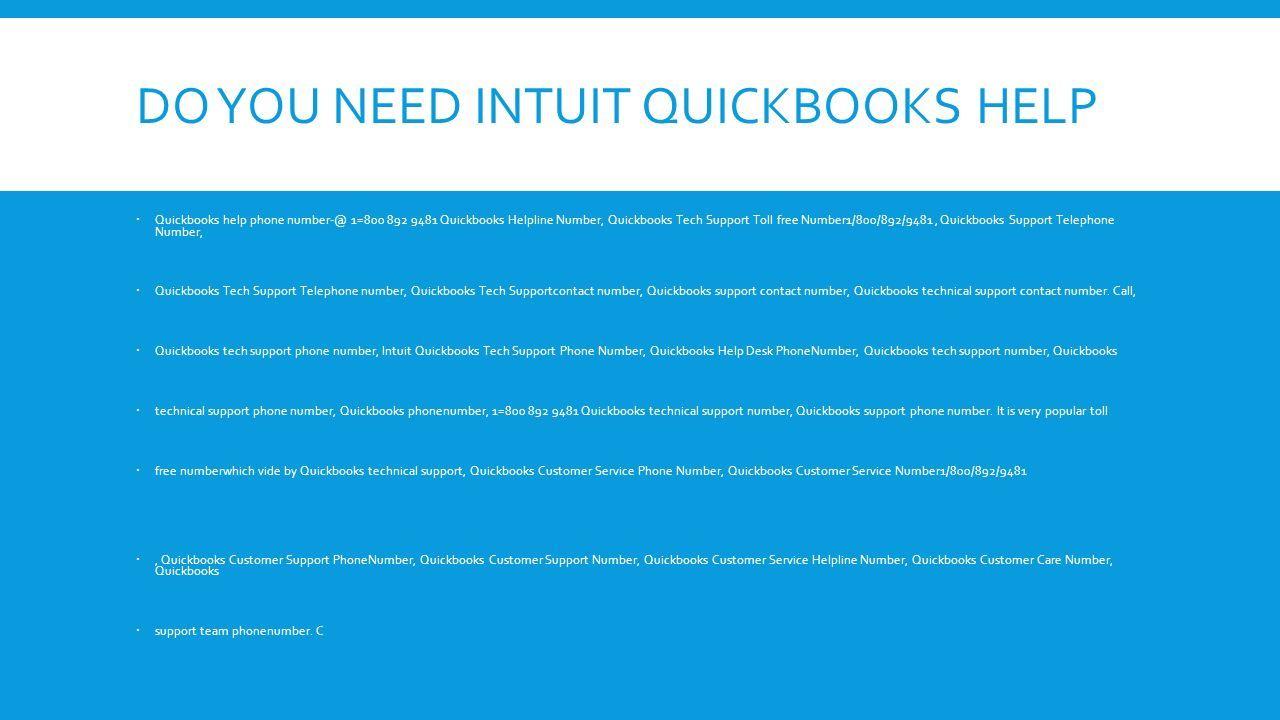 DO YOU NEED INTUIT QUICKBOOKS HELP  Quickbooks Help Phone 1u003d Quickbooks  Helpline Number,