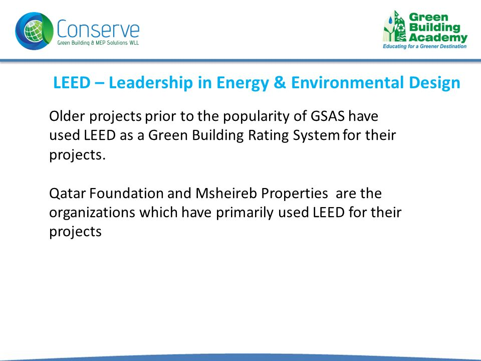 Leed Certification In Qatar Ppt Download