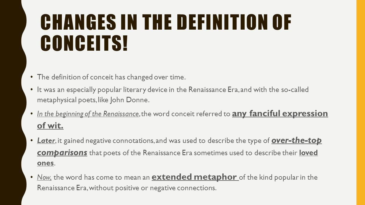 conceits, type of conceits, conceits used by john donne presentation