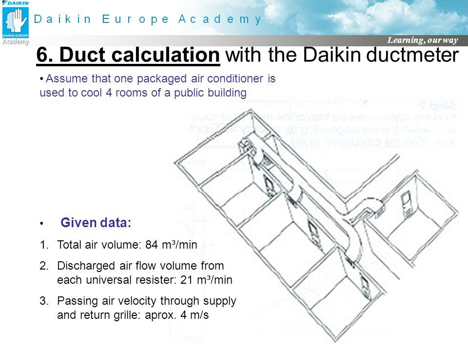 Learning, our way DUCT DESIGN (material to be checked with local