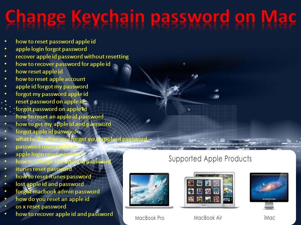 mac os x lost keychain password