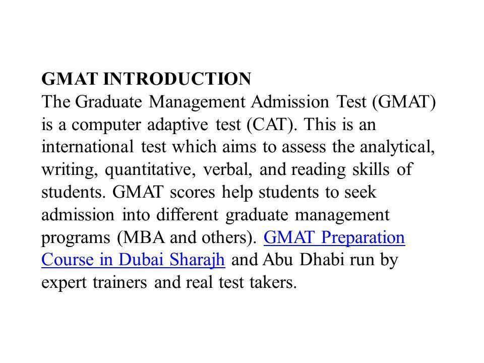 GMAT Preparation Course in Dubai Sharajh & Abu Dhabi, UAE