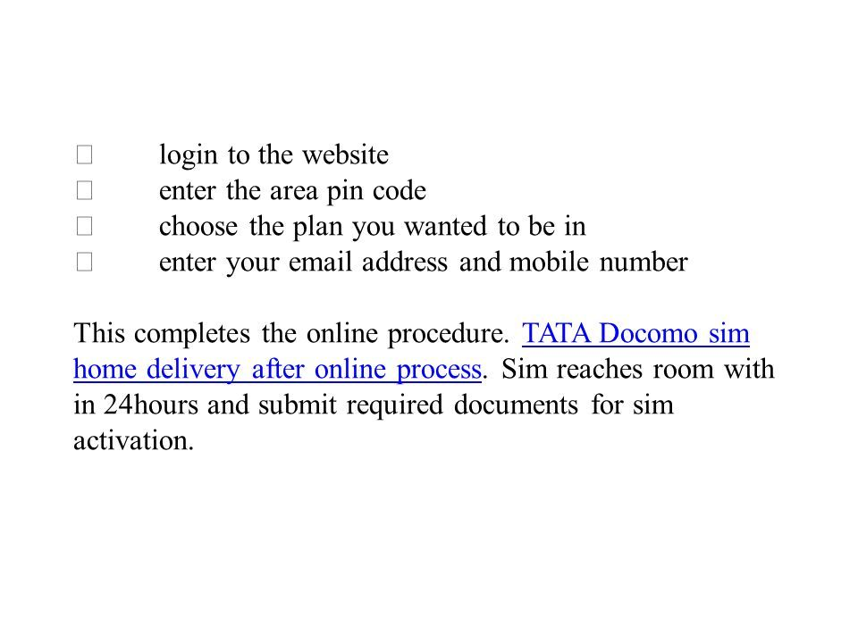 Switch to Docomo for Best Plans  Tata docomo is one the