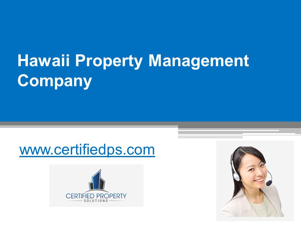 Hawaii Property Management Company