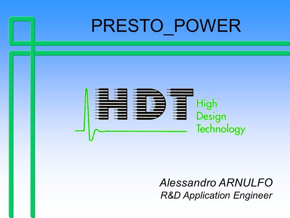Piero Belforte, HDT 1999: PRESTO POWER by Alessandro Arnulfo