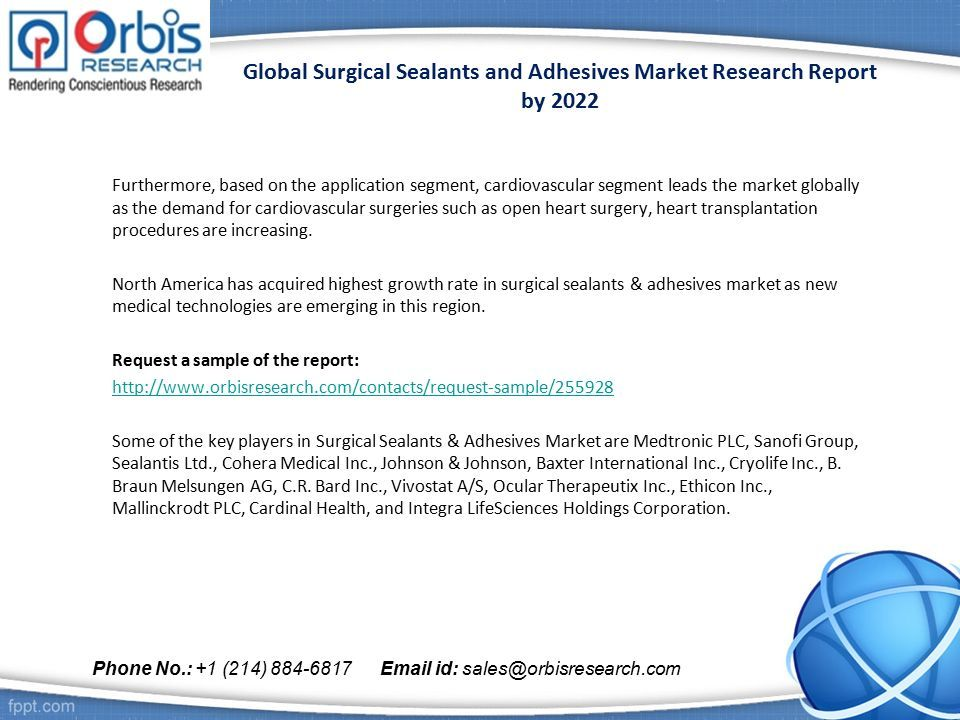 Global Surgical Sealants and Adhesives Market Research Report by