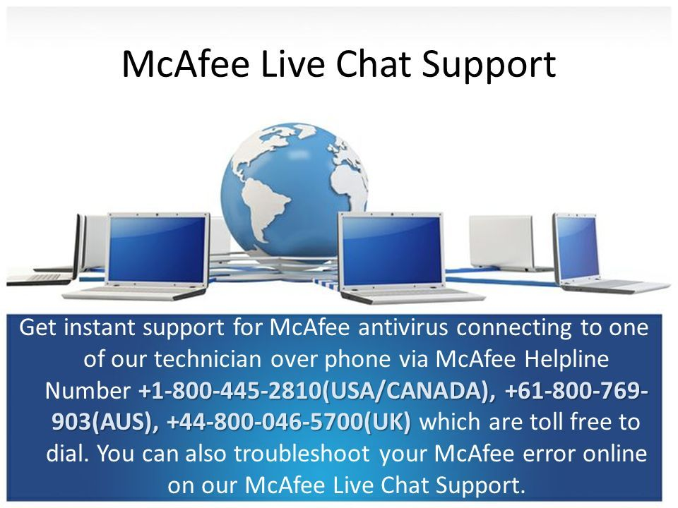 McAfee live chat support USA McAfee Helpline Number - ppt