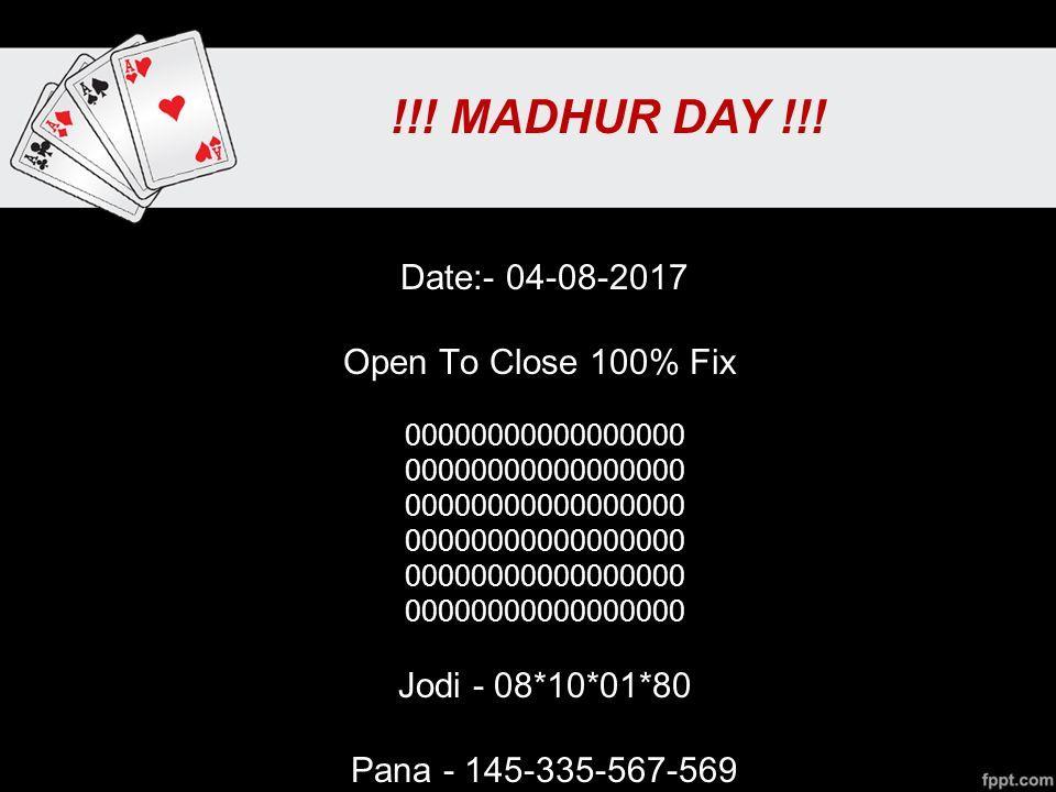 Madhur Matka About Us Mardmatka net offers Madhur day chart, madhur
