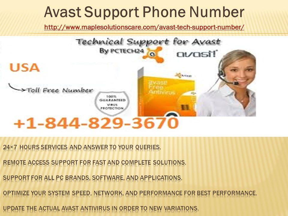 avast phone number