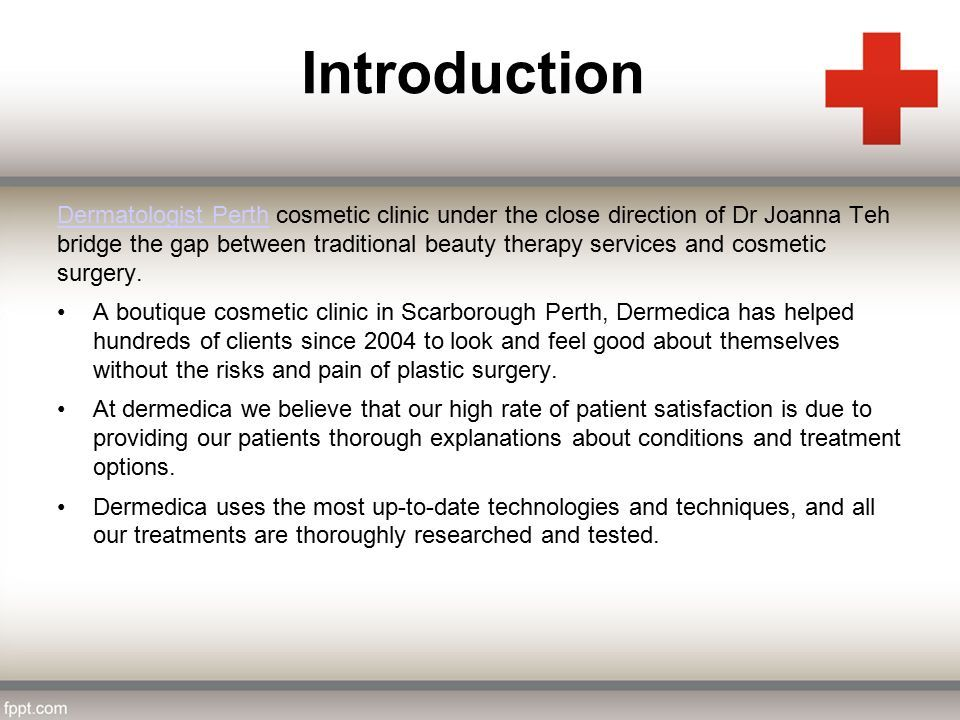 Dermedica Cosmetic Medical Clinic  Introduction