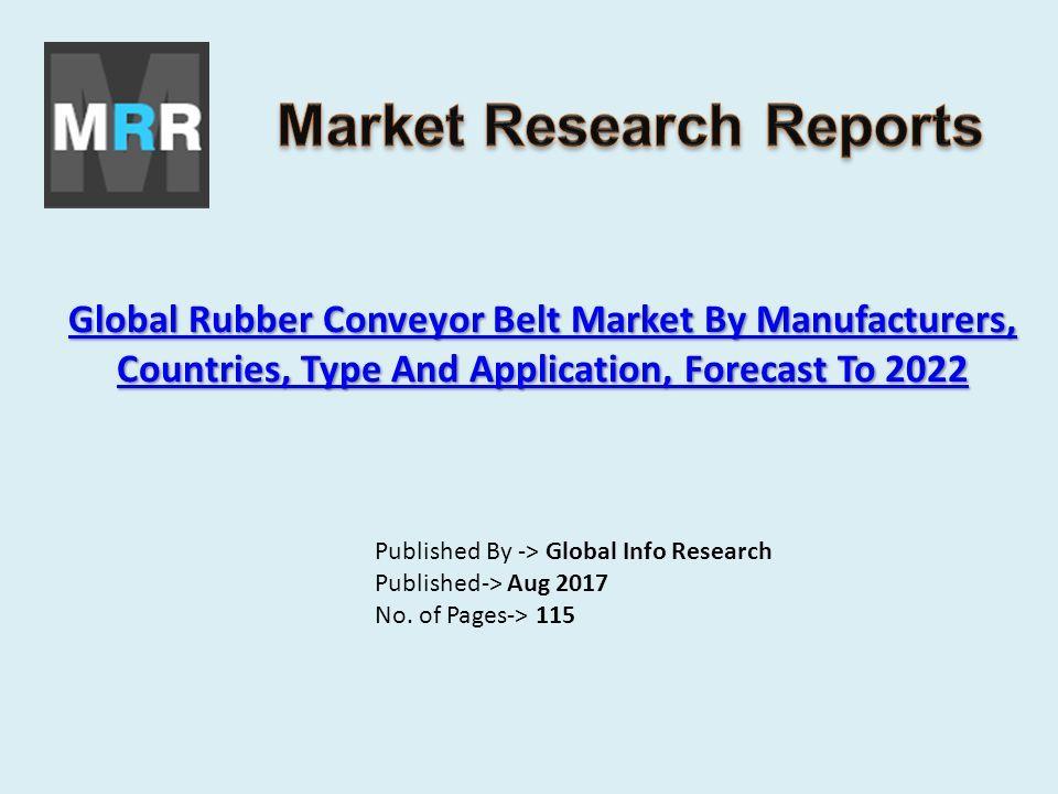 Global Rubber Conveyor Belt Market By Manufacturers