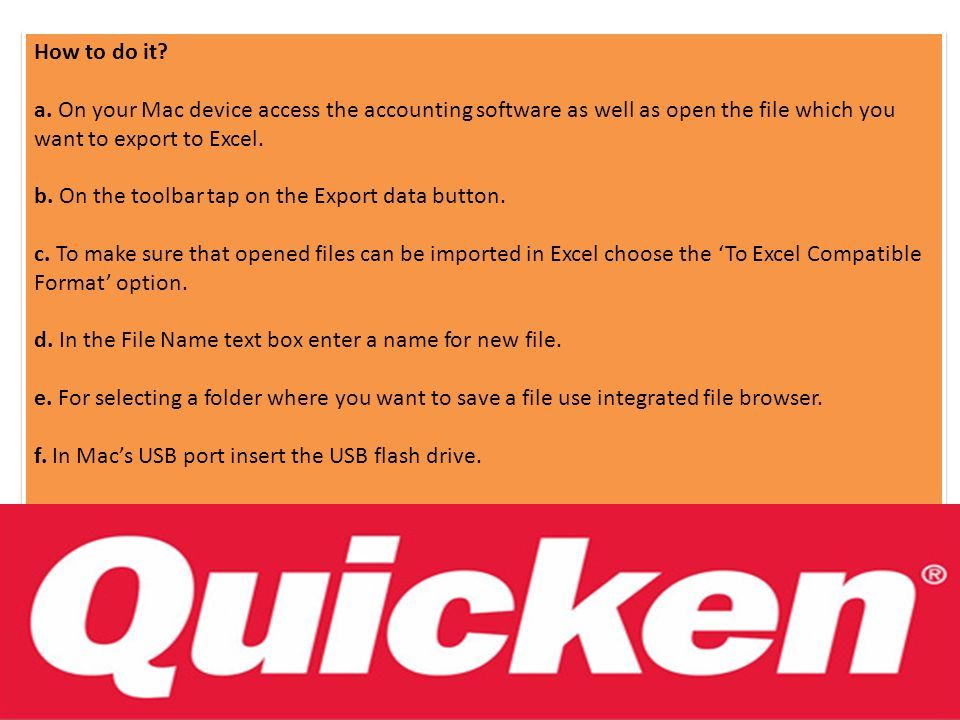 Importing Quicken Files for Mac to Excel  Intuit introduced