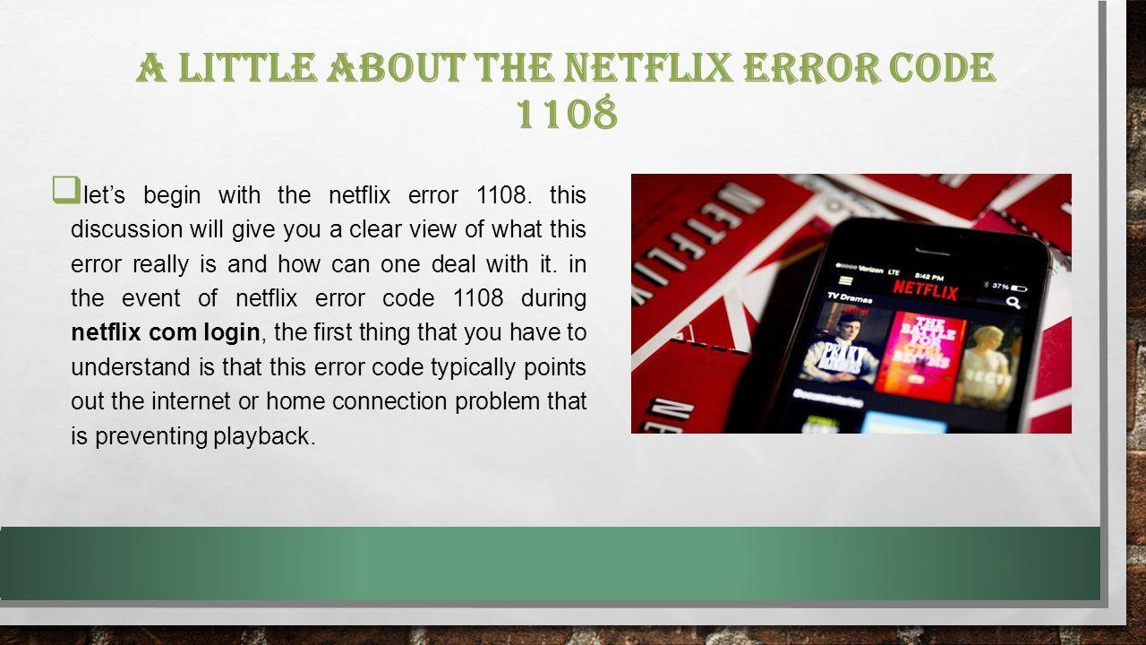 FIX THE NETFLIX ERROR for more details visit our website