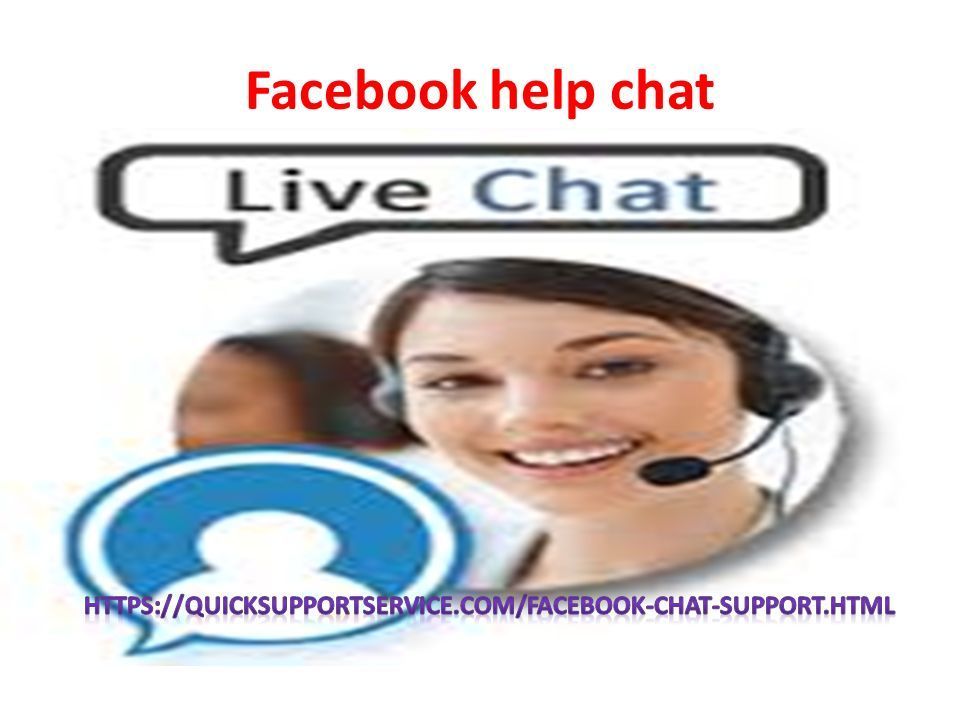 facebook help support chat
