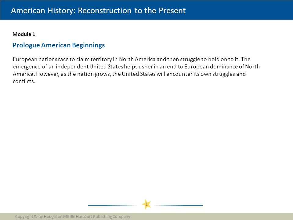 american history reconstruction to the present
