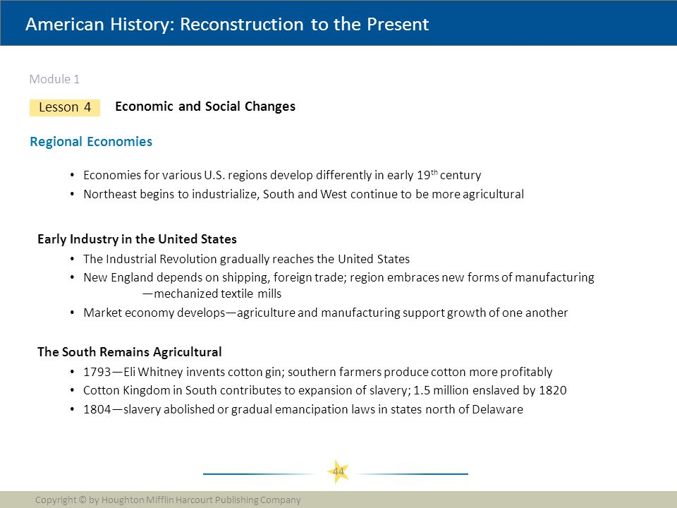 American History Reconstruction To The Present Module 1