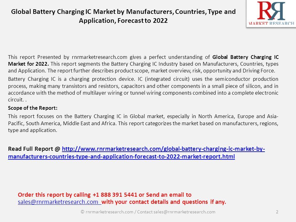 Region-wise Analysis Report for Battery Charging IC Market Industry