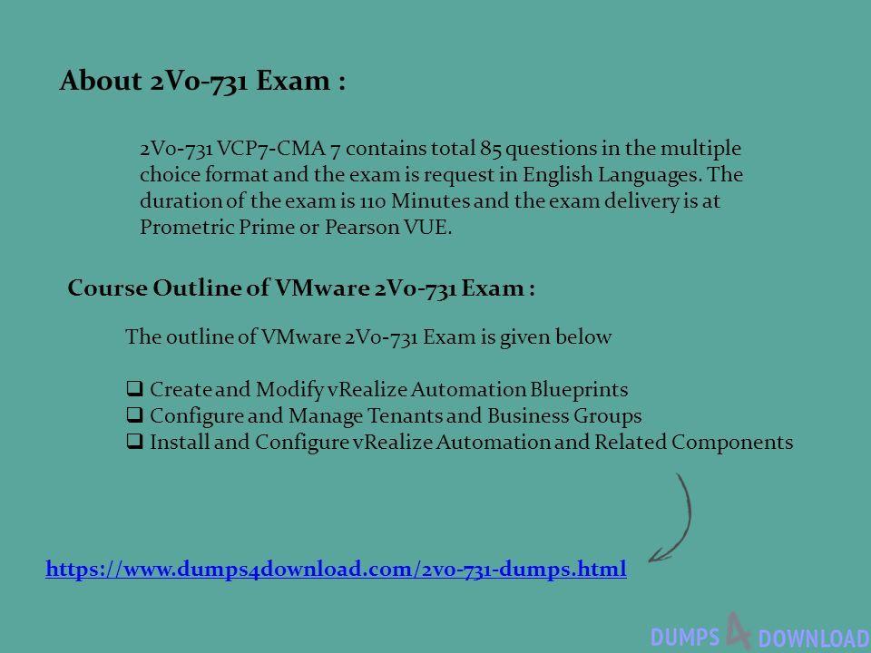 2V0-731 Dumps PDF VMware Certified Professional 7 - Cloud Management