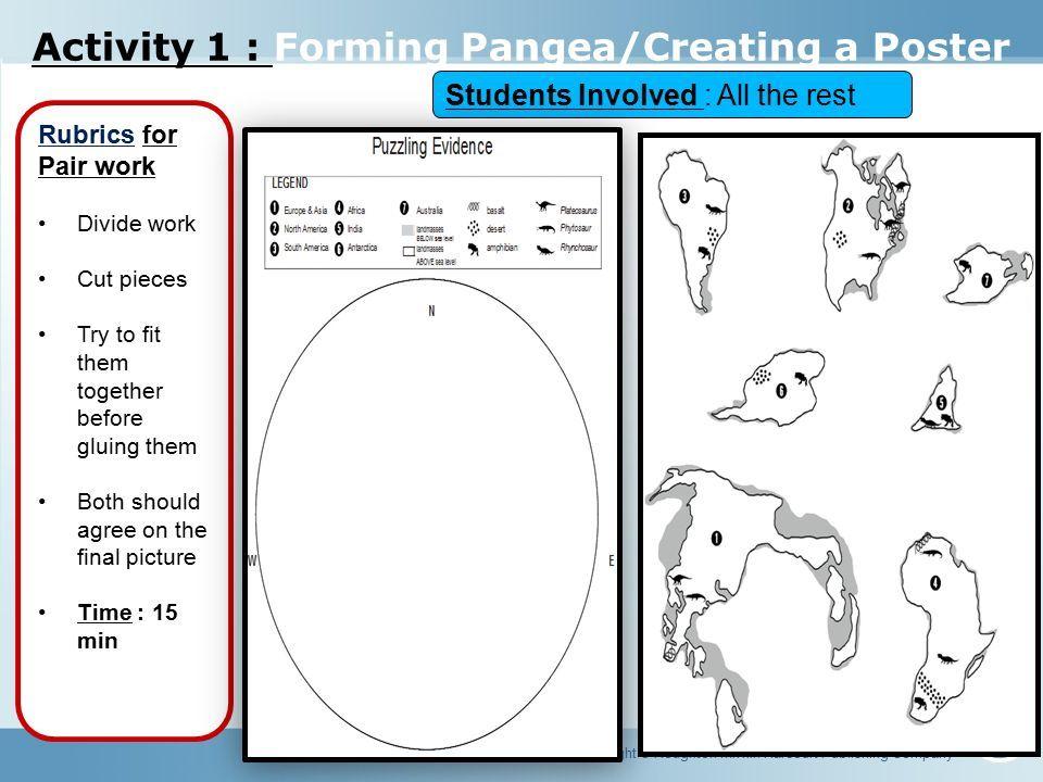 Lesson 1 Pangea Objectives Copyright Houghton Mifflin Harcourt