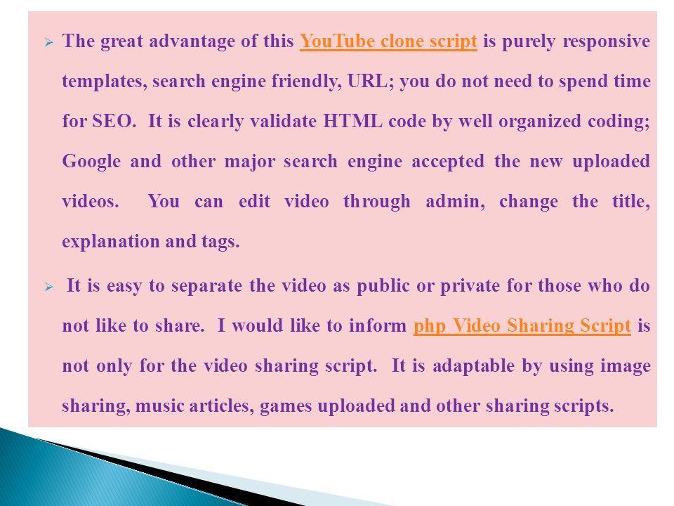 Php video sharing Script | YouTube clone | YouTube script