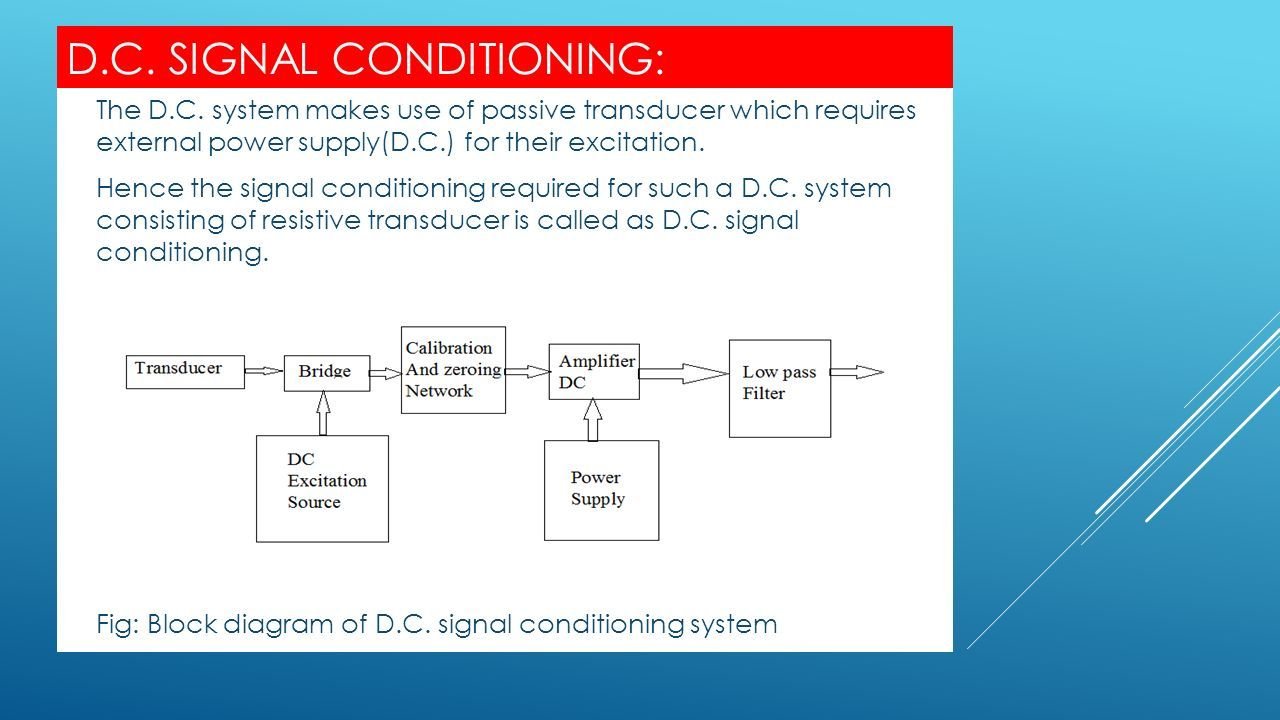 Signal Conditioning Is Stage Of Instrumentation Make The Ms Powerpoint Presentation From Your Block Diagrams In A Few 4 Dc