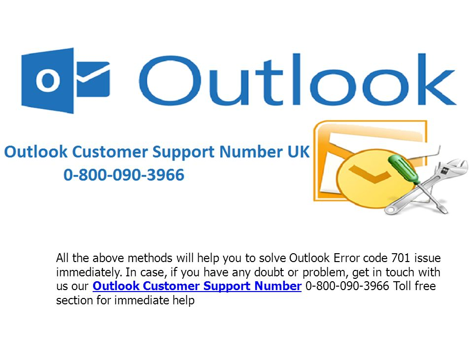 All the above methods will help you to solve Outlook Error code 701 issue immediately.