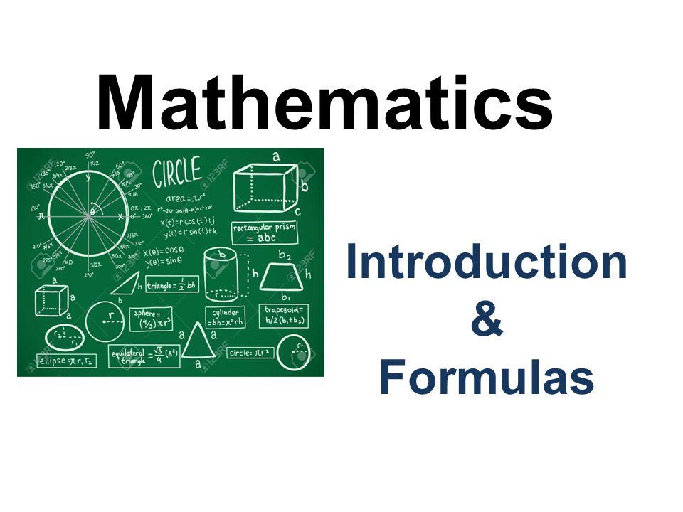 Mathematics Introduction & Formulas  Number System Number