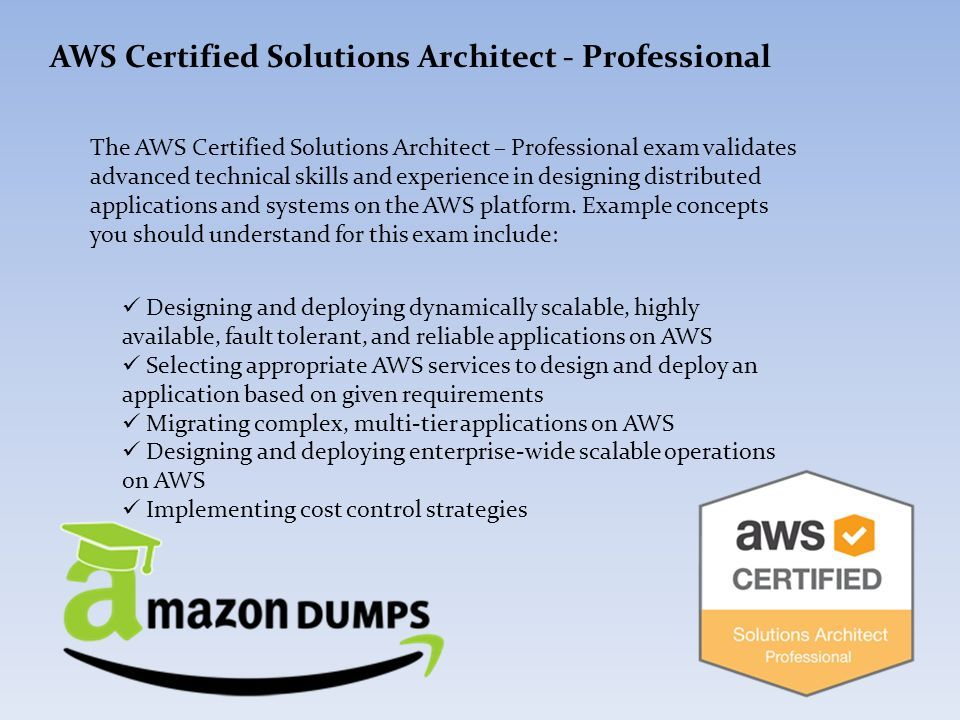 Amazon AWS Certified Solutions Architect Professional Exam Questions