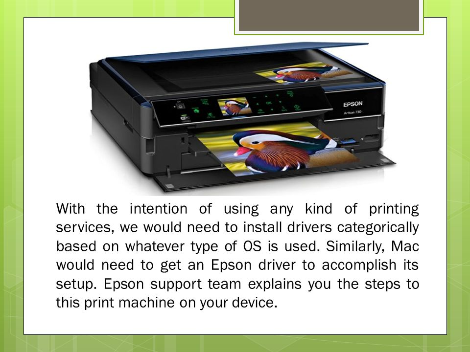 What are the Steps to Install Epson Printer on Mac? - ppt