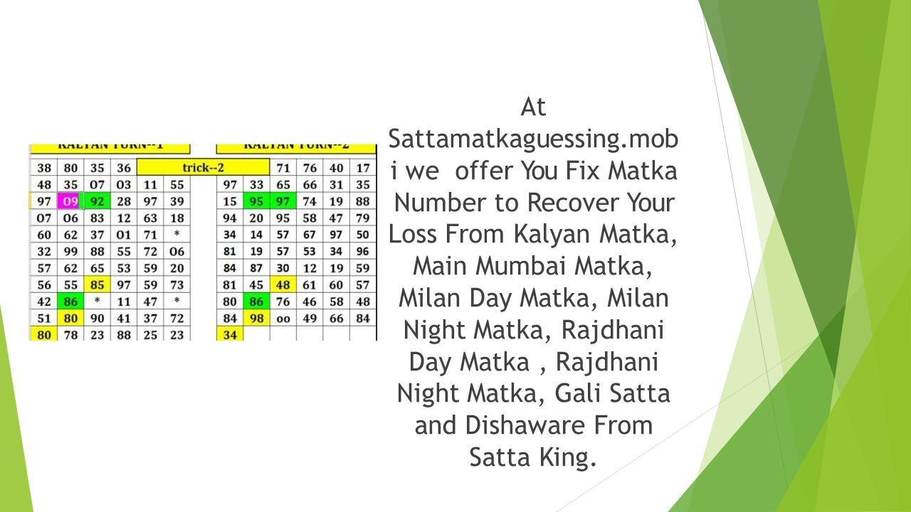 Play Online Satta Matka Game To Win Money - ppt download