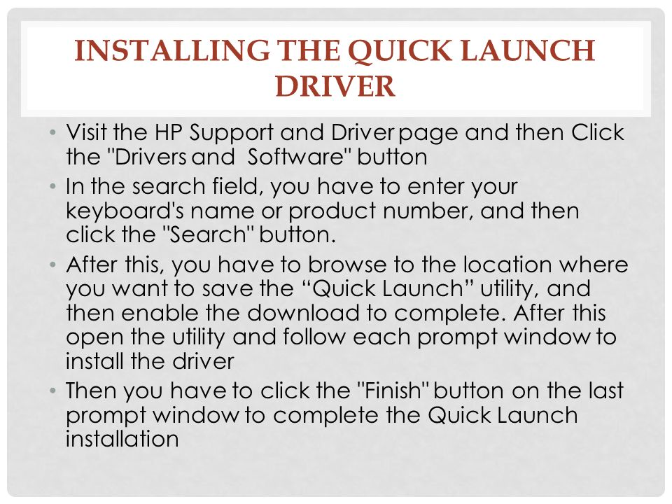 HP G7001TU Notebook Quick Launch Buttons Drivers for PC