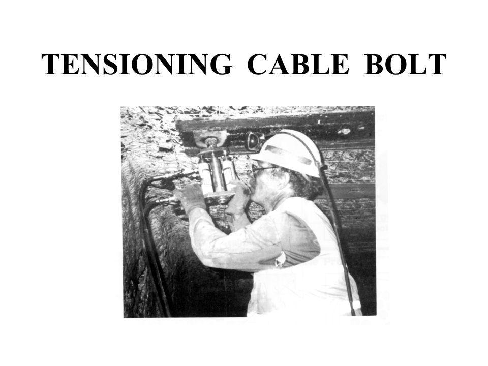TENSIONING CABLE BOLT