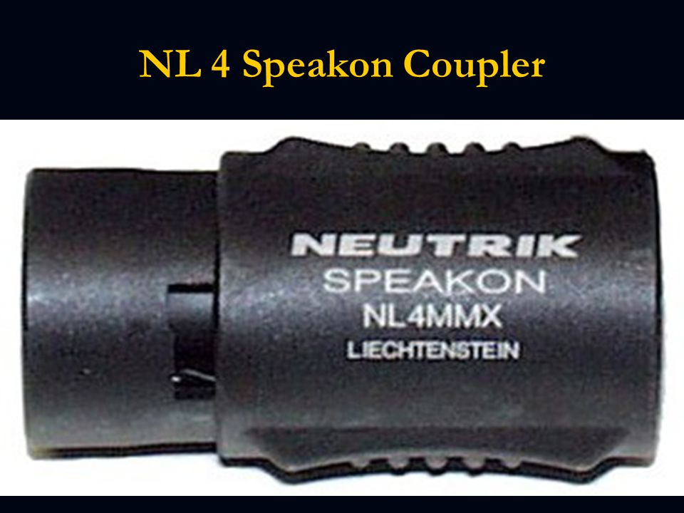 NL 4 Speakon Coupler