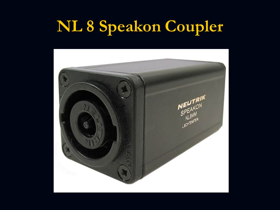 NL 8 Speakon Coupler