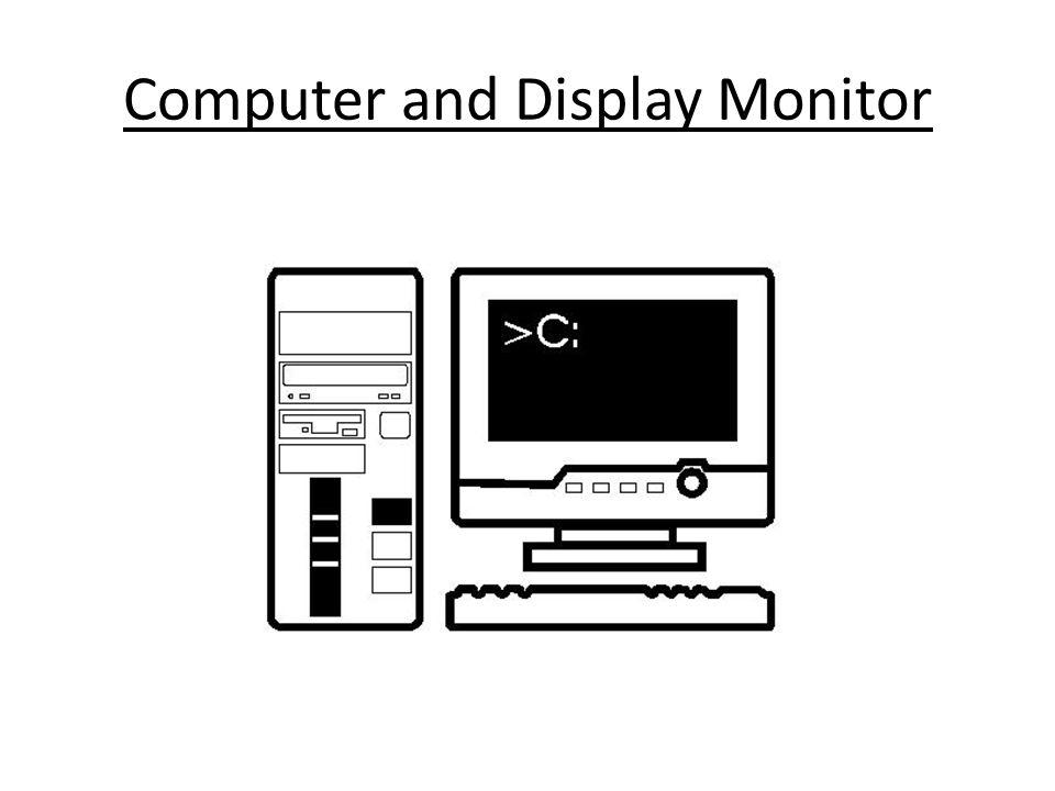 Computer and Display Monitor