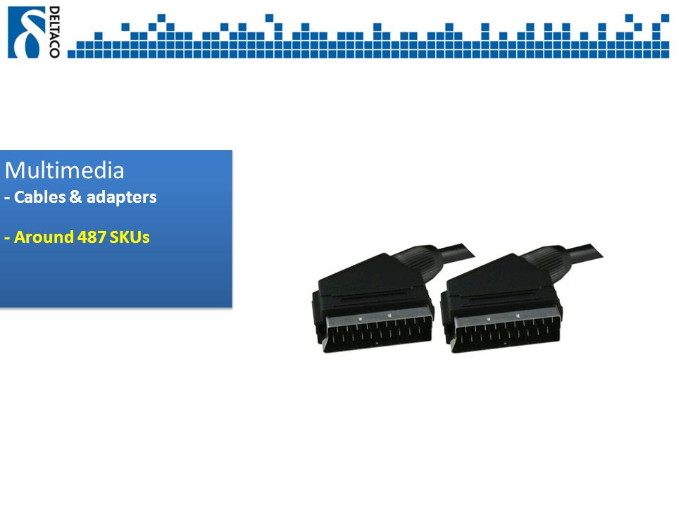 Multimedia - Cables & adapters - Around 487 SKUs Multimedia - Cables & adapters - Around 487 SKUs