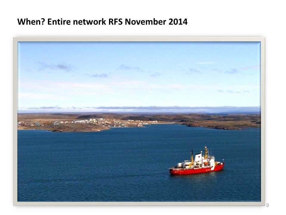 When Entire network RFS November 2014 9