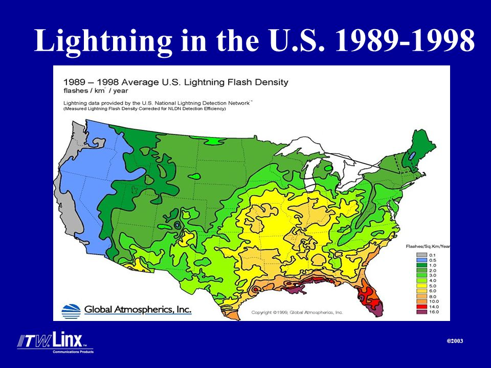 ©2003 Lightning in the U.S. 1989-1998