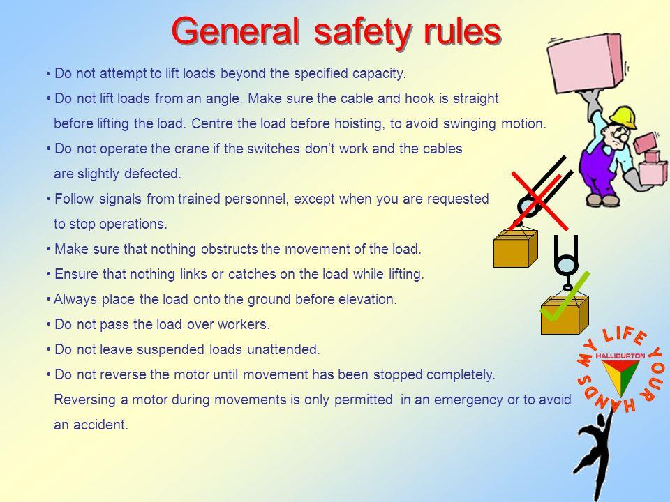 Crane lifting safety procedure