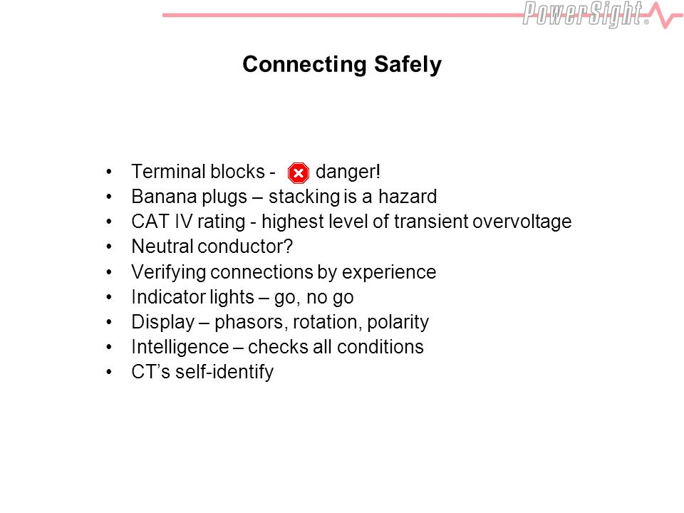 Connecting Safely Terminal blocks - danger.