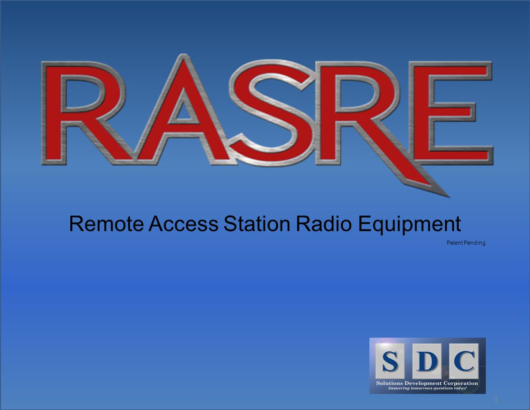 1 Remote Access Station Radio Equipment Patent Pending
